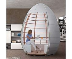 33 Privacy-Encouraging Office Furniture - From Personal Office Capsules to Concave Cocoon Chairs (CLUSTER)