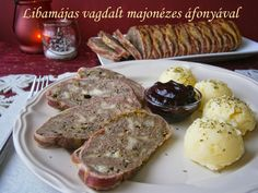 Libamájas vagdalt majonézes áfonyával Pancakes, Pork, Meat, Breakfast, Kale Stir Fry, Morning Coffee, Pancake, Pork Chops, Crepes