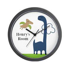 Adorable Dino/Lil Dinosaur Wall Clock