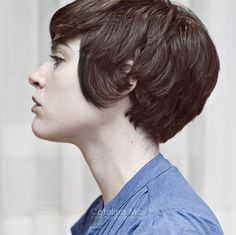 Short hair. This is so cute. I know if I cut my hair this short everybody would freak out lol.
