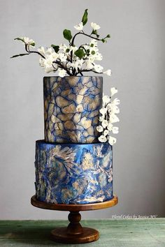 Spectacular Modern Wedding Cakes by Jessica MV - Mon Cheri Bridals... What STUNNING Art Work!