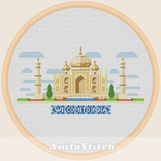Welcome to India Cross stitch pattern от AnitaStitch на Etsy