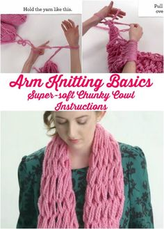 23 Insanely Clever Arm Knitting Projects and Techniques : Arm Knitting for Beginners – 23 Insanely Clever Arm Knitting Projects and Techniques Yarn Projects, Knitting Projects, Crochet Projects, Knitting Patterns, Knitting Tutorials, Knitting Ideas, Cowl Patterns, Arm Knitting Tutorial, Craft Ideas