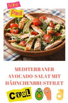 Dieser Salat hat alles was man sich wünschen kann. Er ist unglaublich lecker, besitzt ein herrliches Aroma und in der Zubereitung ist er ebenfalls super einfach und unkompliziert.Bitte besuchen Sie den Link für das vollständige Rezept.  #ofenliebe #affektblog #mediterraner #avocadosalat #avocado #haehnchenbrustfilet #foodliebe #foodbloggers #de #kuchenliebe #baken #cooking #foods Brunch, Pasta Salad, Tacos, Mexican, Ethnic Recipes, Foodblogger, Inspiration, Vegetarian Recipes, Easy Meals