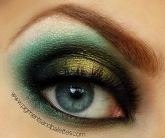 Great green & bronze eyeshadow.