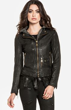 DOMA Ashley Leather Jacket in Black | DAILYLOOK