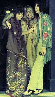 """thatveryone: """" Who: Anita Pallenberg Nationality: Italian Band Mates: Brian Jones. Rumored to have had a dalliance with Mick Jagger during the filming of Performance. Had three children with Keith Richards. Vibe: Lean and slightly androgynous, the. Hippie Style, Mode Hippie, Hippie Man, Bohemian Style, Boho Chic, Mick Jagger, Estilo Hippy, Estilo Rock, Look Vintage"""