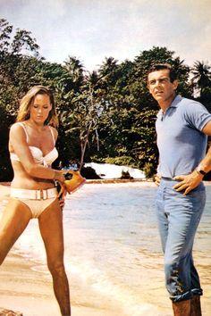 Ursula Andress & Sean Connery- James Bond, Honey Rider-Dr. No, 1962-