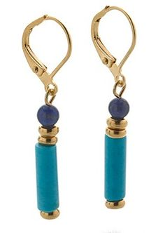 Egyptian Turquoise and Lapis Drop Earrings by Museum Reproductions MR-3780E Online Shopping for Home Decor, Clothing, Shoes, Spiritual Supplies & More
