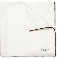 Gucci Contrast-Edge Silk Pocket Square | MR PORTER
