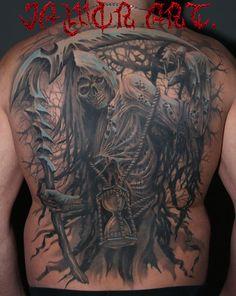 angel reaper#jaworart tatuaż