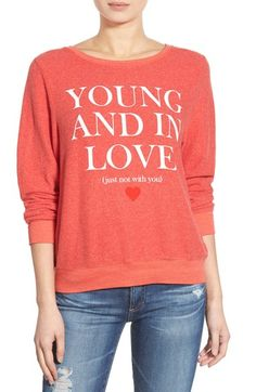 Your And In Love Red warm sweater