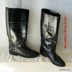 Vintage Equestrian Riding Boots size 6 Leather  Eur 36 by GoodEye, $65.00