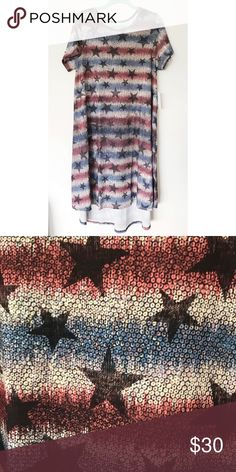 Patriotic Carly Dress  Lularoe American Dreams  This patriotic dress is  from the new Lularoe 79e690c2b