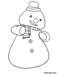 Printable Chilly the Snowman Doc McStuffins Coloring Pages - Printable Coloring Pages For Kids