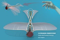 This is a rubber band powered Ornithopter concept optimised for printing. An Orthinopter is an aircraft that uses its moving wings to cre. Fun Diy Crafts, Sand Crafts, Paper Crafts, Airplane Crafts, 3d Cad Models, Crafts For Seniors, Insect Art, Paper Plane, Design Competitions