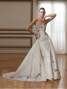 Taffeta Sweetheart shapely Bodice A-line Wedding Dress