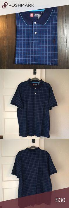 Chaps men's blue polo shirt NWT. Chaps men's blue polo shirt. Size XL. 100% cotton Chaps Shirts Polos