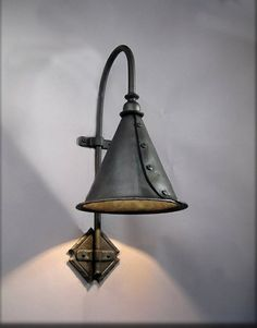 Custom Made Large Entry Sconce     Christopher Thomson Ironworksmaker from Ribera, NM