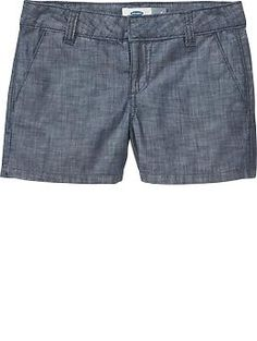 Girls Chambray Shorts | Old Navy