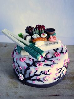 sushi cake, by Anila Babla - marketer by day, baker/decorator by night