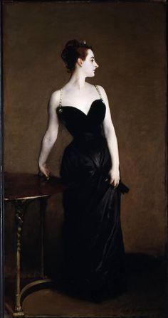 "John Singer Sargent ""Madame X"" 1884 (Metropolitan Museum of Art, New York)."