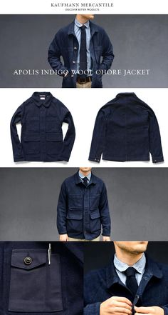 Three reasons why the Indigo Wool Chore Jacket by LA based Apolis makes a great gift. 1. It's suitable for both actual chores and daily wear. 2. Indigo looks good on all guys 3. It will age well and look better and better with wear.