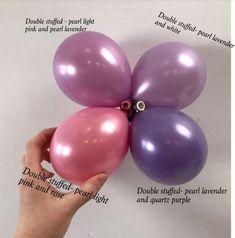 Custom colour blends are the hottest trend in the balloon industry Balloon Columns, Balloon Arch, Balloon Garland, Balloon Ideas, Bubblegum Balloons, Purple Balloons, Baby Shower Balloons, Birthday Balloons, Balloon Decorations Without Helium