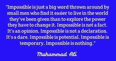 Great motivational quote from Muhammad Ali