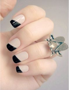 Bare color French manicure nail