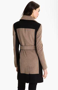 Calvin Klein Colorblock Belted Coat