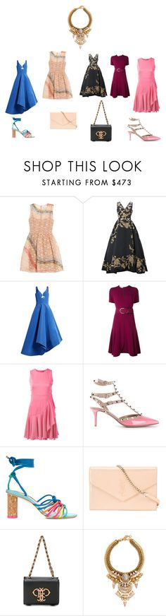 """""""April fashion"""" by jamuna-kaalla ❤ liked on Polyvore featuring RED Valentino, Oscar de la Renta, Rosie Assoulin, STELLA McCARTNEY, Alexander McQueen, Valentino, Sophia Webster, Yves Saint Laurent, Emilio Pucci and Elizabeth Cole"""