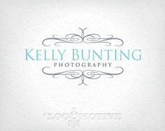 Premade Logo Design & Watermark Customizable for Small Business - photography, ornate, vintage, antique, scroll, scrolls, etsy logo