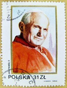 great stamp Polska Poland 31 zł Karol Józef Wojtyła (Jan Pawel II, Ioannes Paulus PP. II, Pope John Paul II, Papst Johannes Paul II, Juan Pablo II, Papa João Paulo II) postage stamps poste-timbres sellos selos Briefmarken Polen porto franco francobolli 31