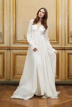 Delphine Manivet - Wedding dress designer Paris : Aliocha | elegance with room to breathe, to move |
