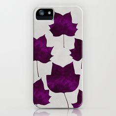 Mapleleaf_Purple - iPhone Case by Garima Dhawan/Society6