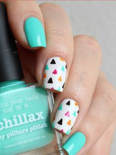 Nail Art Colors and Style for Summer - Nails C Trendy Nail Art, Cute Nail Art, Stylish Nails, Girls Nail Designs, Nail Art Designs, Animal Nail Designs, Cute Summer Nail Designs, Swag Nails, Diy Nails