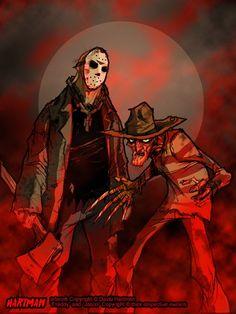 Horror Movies Fan Art by David Hartman