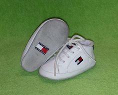 Tommy Hilfiger Flag Crib Shoe Leather Lace-Up White Baby Boys Girls Size 3M EUC #TommyHilfiger #CribShoes