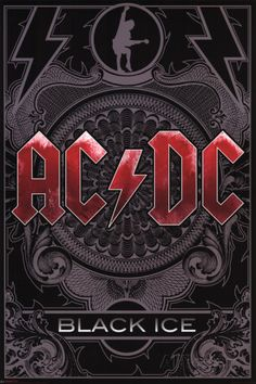 AC/DC Black Ice Glossy Rock Poster Buy Now.it's just a click away! Rock Posters, Concert Posters, Ac/dc Poster, Poster Prints, Hard Rock, Rock And Roll, Pochette Album, Rock Legends, Woodstock