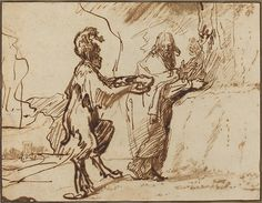 Rembrandt - Satan Tempting Christ to Change Stones into Bread. 1635-1640