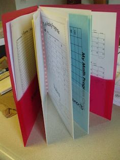 "Welcome to First Grade Room 5: Data Folders  **way to organize inside ""the box"" folders"