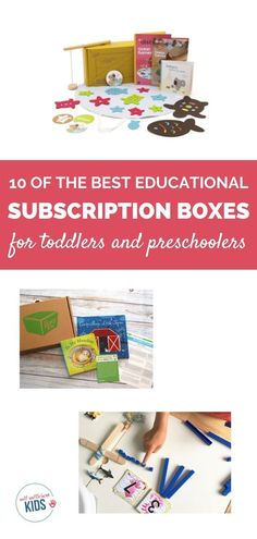 Toddlers and preschoolers like to stay busy! These ten educational subscription boxes for toddlers and preschoolers help them do just that. Boxes include craft and learning activities as well as children's book boxes. Free Activities For Kids, Preschool Activities, Parenting Toddlers, Good Parenting, Book Boxes, Subscription Boxes For Kids, Kids Boxing, Toddler Preschool, Fun Ideas