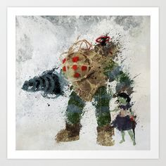 Bubbles Art Print by Melissa Smith - $17.00 / videogames, Bioshock