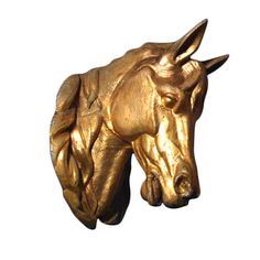 French Horse Head in Tin at 1stdibs