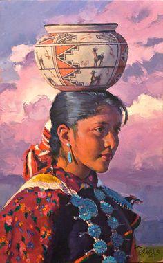 Zuni Maiden by R.S. Riddick kp