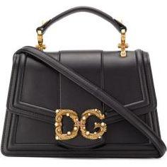 Dolce & Gabbana Verzierte Handtasche mit Logo - Schwarz Dolce & GabbanaDolce & Gabbana