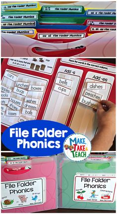 Over 20 file folder phonics activities in 2 bundles! Great for introducing phonics concepts in small group or for practice during independent centers! Reading Centers, Reading Activities, Literacy Activities, Teaching Reading, Hands On Activities, Teaching Tools, Teaching Ideas, Physical Activities, Guided Reading Lessons