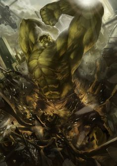 Green Action, Avengers, Character, Fan Art, Hulk, Movies & TV, Paintings & Airbrushing, Superhero