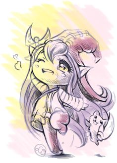 Lulu playing with squirrel, so cute! #lulu #leagueoflegends